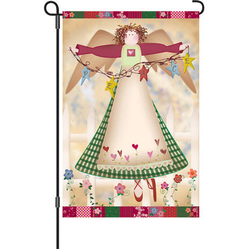 12 in. Christmas Garden Flag - Angelic Grace