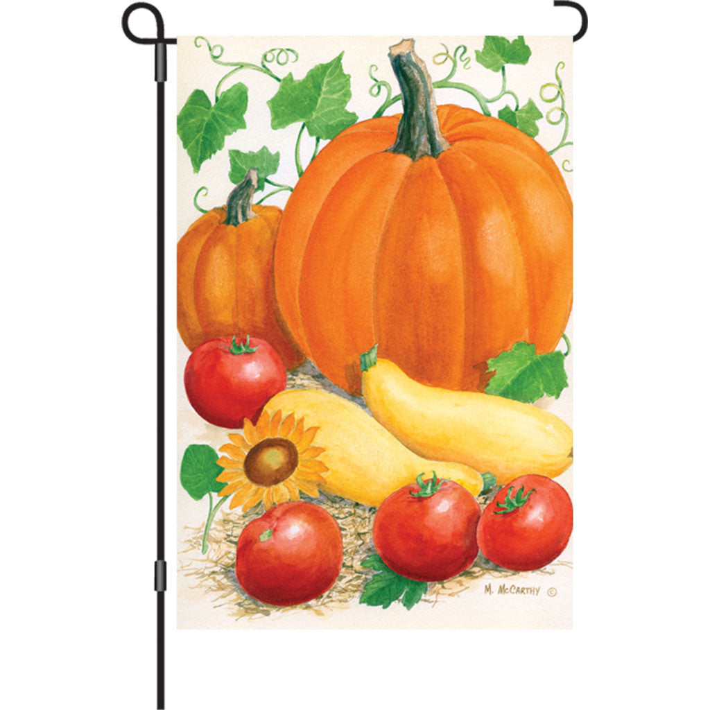 12 in. Autumn Garden Flag - Harvest Time
