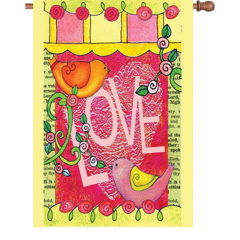 28 in. Valentine's Day House Flag - Love Always