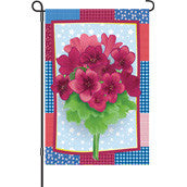 12 in. Flower Garden Flag - Country Geraniums