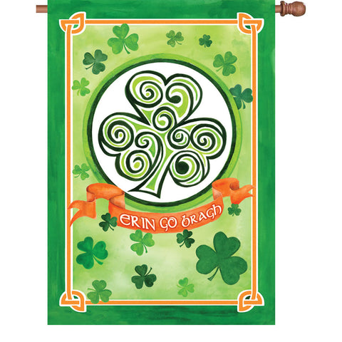 28 in. St. Patty's Day House Flag - Ireland Forever