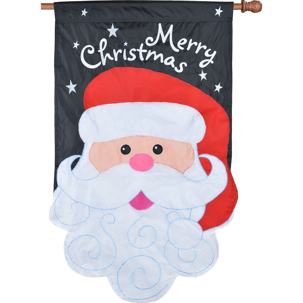 Double-Sided Christmas House Applique Flag - Merry Christmas