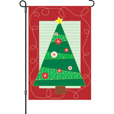 12 in. Christmas Garden Flag - Soho Christmas