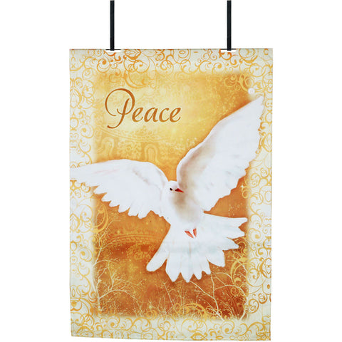 Heavenly Peace Christmas Fiber-Optic Door Flag