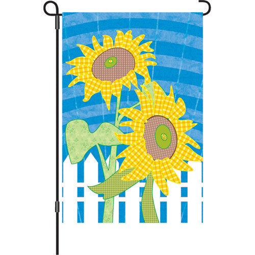 12 in. Springtime Garden Flag - Farmhouse Flowers
