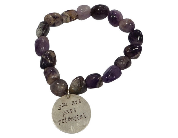 You are Pure Potential Amethyst & Silver Bracelet