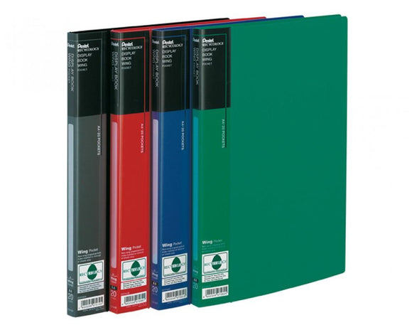 Display Book Wing - 20 Pockets - Zwart - Displaybook