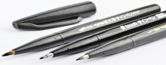 Pentel Sign Pen Brush Black Ink Edition