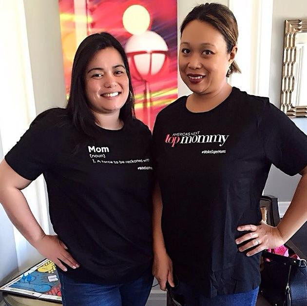 Check out these sisters in law, Cheryl and Janeen, representing WE ARE SUPERMOMS™ in the Bay Area.  These lovely ladies are loving their shirts!  Thank you Cheryl and Janeen!! You both look beautiful and POWERFUL in your WE ARE SUPERMOMS™ apparel!