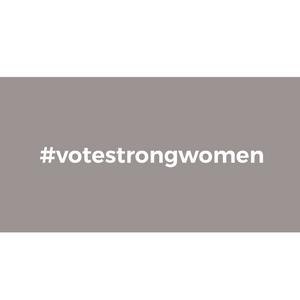 Vote Strong Women Vinyl Sticker