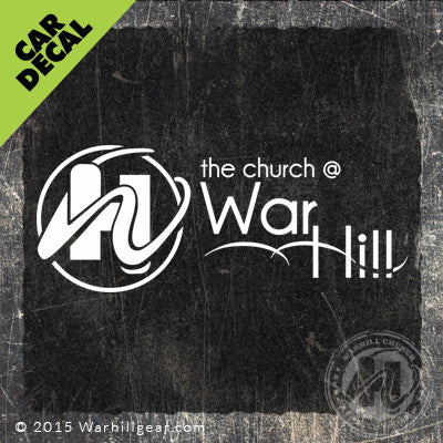 Car Decal - War Hill Church Logo (#2)