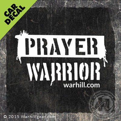 Car Decal - Prayer Warrior