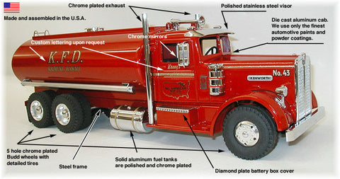 Kenworth Fire Truck issued by the All American Toy Co.   - NOW AVAILABLE