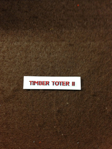 "Decal - ""Timber Toter II"" Hood decal (Original 1950's Style)"