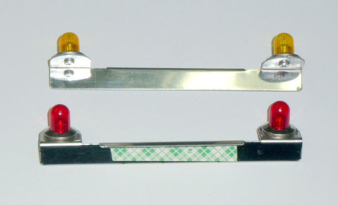 Light Bar  - Stainless Steel - Amber or Red