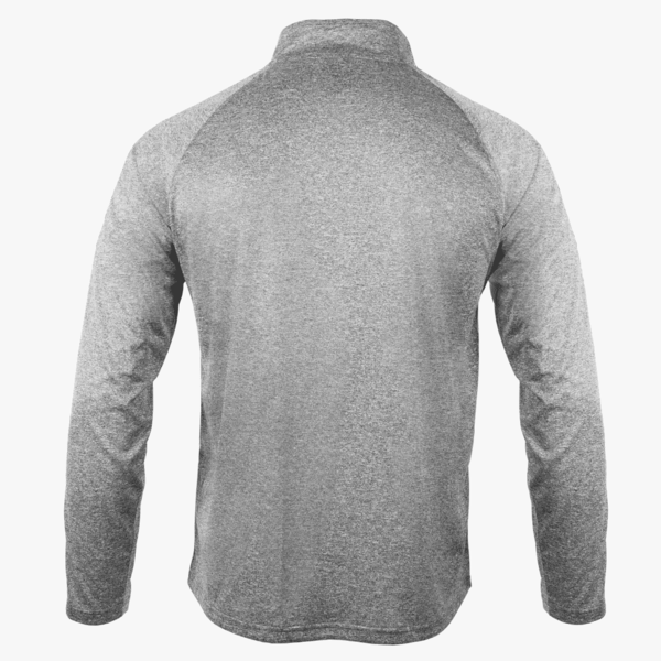 #F108 / Titanium Heather Men's Striped 1/4 Zip