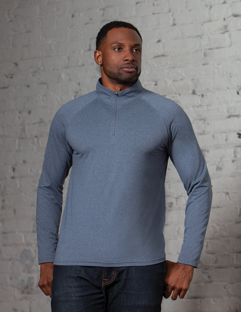 #K223 / Evo Heather Men's 1/4 Zip - Available 4/25