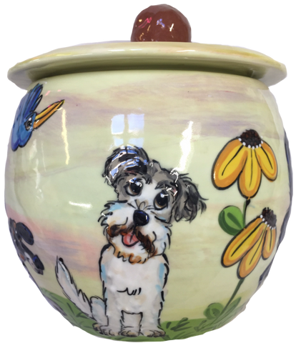 PERSONALIZED TREAT JAR - AIREDALE | FAUX PAW PRODUCTIONS