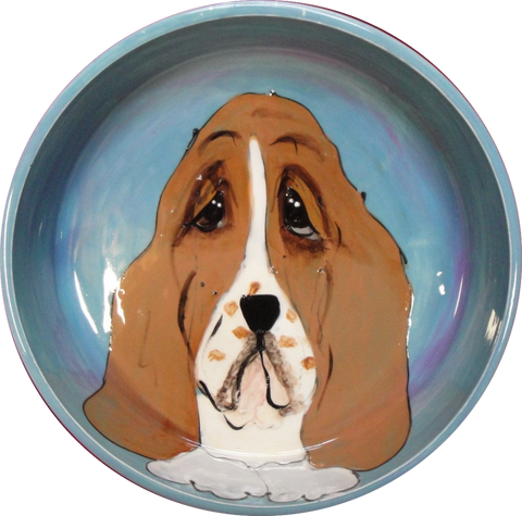 BASSETT HOUND DOG BOWL