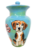 Large Urn for dog ashes / loss of pet / death of pet / dog memorial urn / personalized dog urn / custom urn / hand painted urn / ceramic urn for ashes / dog urns / pet cremation urns / urn for cat ashes / container for pet ashes / pet cremation container / urn for pet remains / dog cremation / what to do when dog dies / keepsake for dog ashes / pet cremation box / dog burial container / dog ashes box / urn for dog ashes / hand painted / Debby Carman / burial for pet / memorial for pet