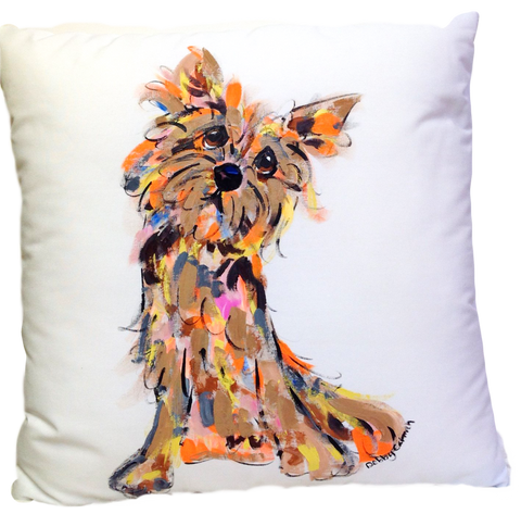 Cain Terrier Dog Pillow decor custom made by Debby Carman