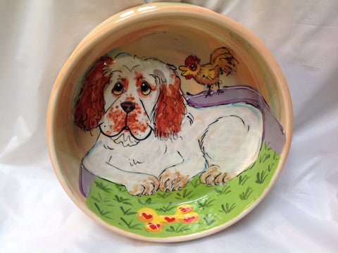 Clumber Spaniel Dog Bowl