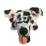 Australian Shepherd Wall Art / Dog Art / Sculpted Dog Face / Ceramic Dog Face - Debby Carman - Faux Paw Productions