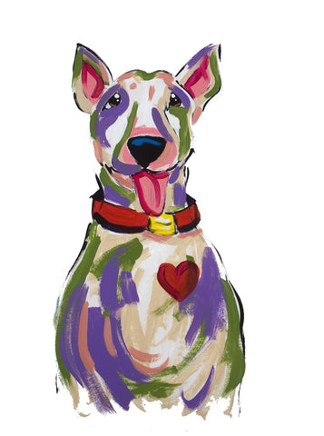 Bull Terrier Dog Painting