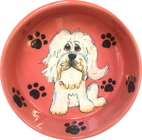 Havanese | Paw Prints | Dog Bowl