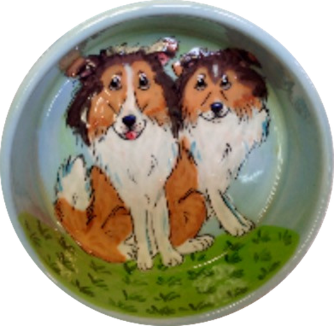 Herding Collie Dog Bowl