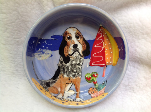 BlueTick Coonhound Dog Bowl