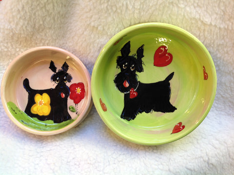 Scottish Terrier Dog Bowl