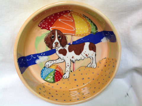 Springer Spaniel Dog Bowl