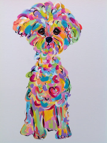 Bichon Whimsical Wall Art
