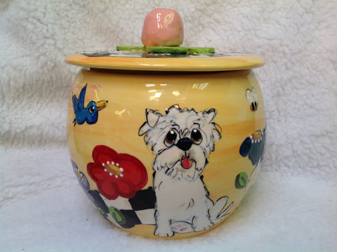 Westie Treat Jar