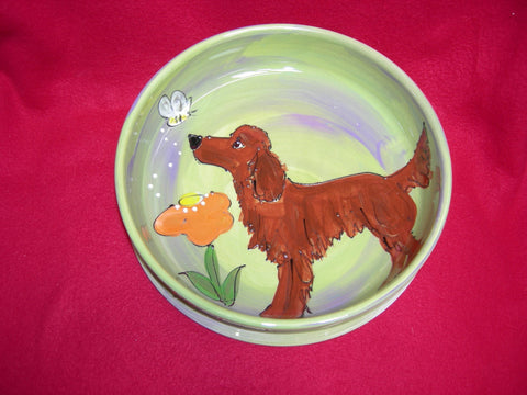 Irish Setter  Dog Bowl