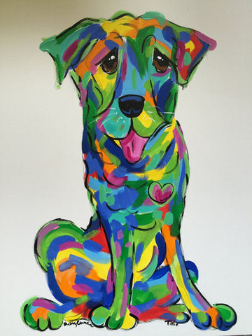 Labrador Dog Painting