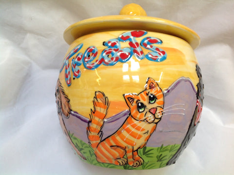 Kitty Cat Treat Jar