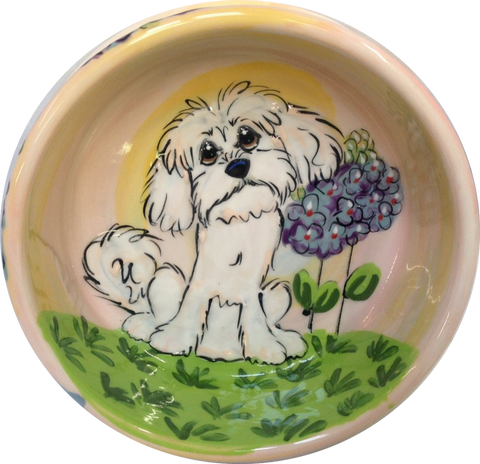 CUSTOM DOG BOWL FOR MALTESE