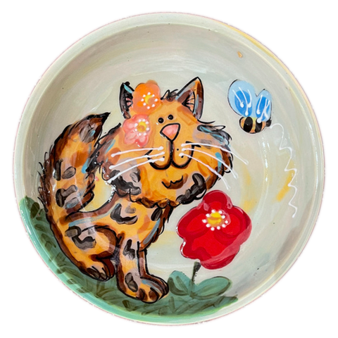 Miss Puddin Kitty Cat | Ceramic Food Bowl