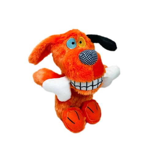 Multipet 11in plush dog toys BOWZERS & MEOWZERS CHEWDALOOTIE AN ORANGE DOG LARGE PLUSH SQUEAKY DOG TOY BY MULTIPET AVAILABLE AT FAUX PAW PRODUCTIONS BY Debby Carman