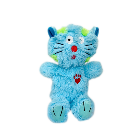 BOWZERS & MEOWZERS MAXIMUM THE CAT A BLUE LARGE PLUSH SQUEAKY DOG TOY BY MULTIPET AVAILABLE AT FAUX PAW PRODUCTIONS BY Debby Carman