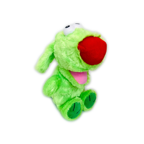 BOWZERS & MEOWZERS GRRRONK THE GREEN DOG LARGE PLUSH SQUEAKY DOG TOY BY MULTIPET AVAILABLE AT FAUX PAW PRODUCTIONS BY Debby Carman