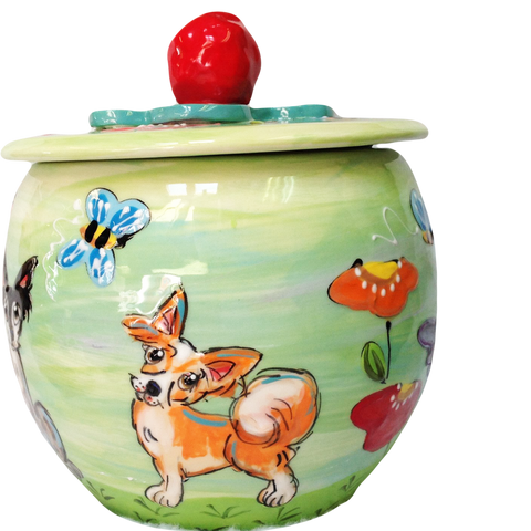Papillon - Garden Design  | Ceramic Treat Jar