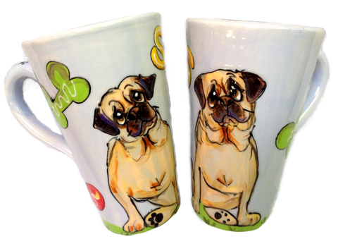 Pug | Dog Latte Mug Set