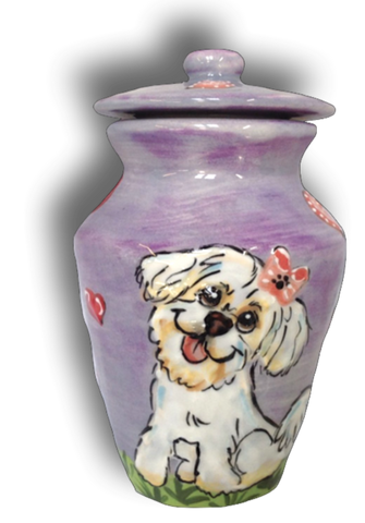 Custom Painted Pet Urn | Small Pet
