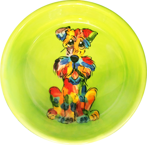 Schnauzer | Rainbow Palz | Dog Bowl