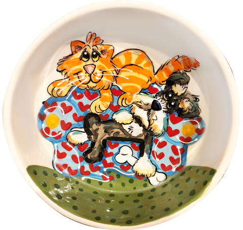 Schnooze Daze | Ceramic Dog Bowl