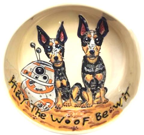Star Wars FANS love this theme dog bowl by Debby Carman