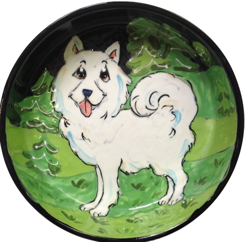Samoyed Dog Bowl Custom